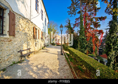 Zagreb upper town park walkway - Stock Photo