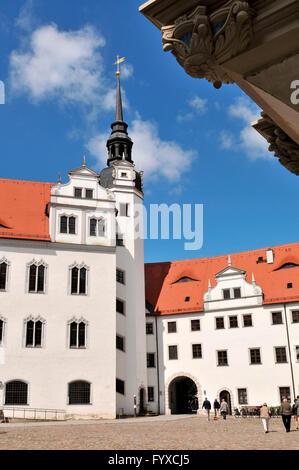 Castle Hartenels, Torgau, Saxony, Germany - Stock Photo