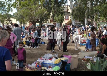 Flea market in Los Llanos, La Palma - Stock Photo