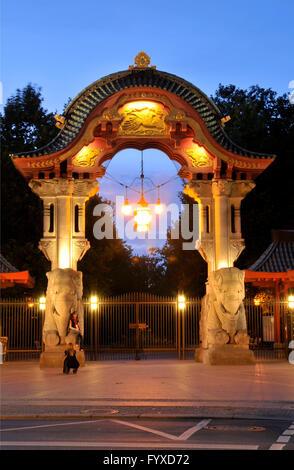 Elephant Gate, Berlin Zoological Garden, Budapester Strasse, Tiergarten, Mitte, Berlin, Germany / Zoologischer Garten - Stock Photo