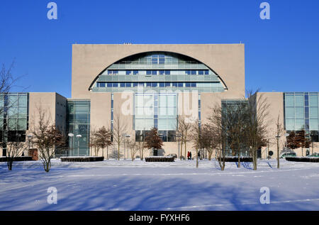 Chancellery building, Tiergarten, Berlin, Germany / Office of the Federal Chancellor - Stock Photo