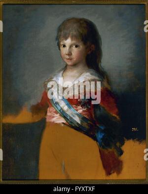 Don Francisco de Paula of Spain (1794-1865). Infante of Spain. Portrait of Infante Don Francisco de Paula by Francisco - Stock Photo