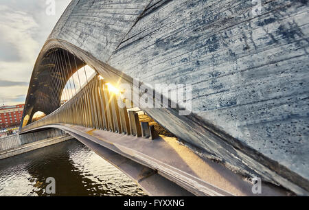 Matadero bridge. Madrid Rio. Madrid, Spain - Stock Photo