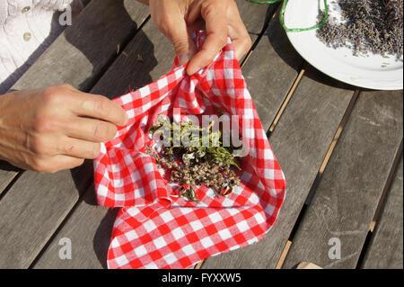 Lacing herb-sachet - Stock Photo