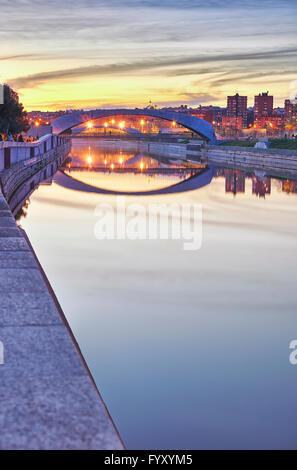 Madrid Rio park. Madrid. Spain. - Stock Photo
