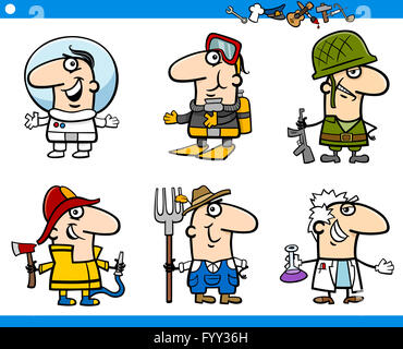 people occupations characters set - Stock Photo