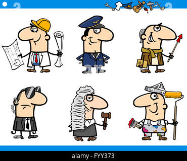 cartoon occupations characters set - Stock Photo
