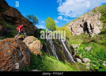 Eurasia, Caucasus region, Armenia, Syunik province, Shaki waterfall