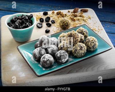 Cherry chocolate truffles - Stock Photo
