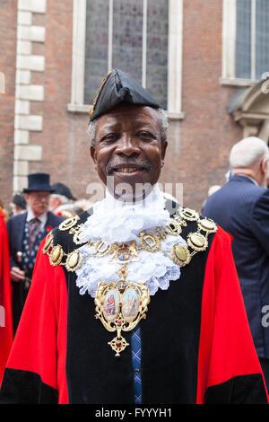 Councillor Obajimi Adefiranye, Chair of the Council, London Borough of Lewisham - Stock Photo
