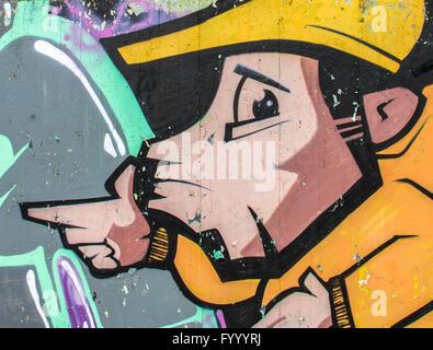 Graffiti urban style - Stock Photo