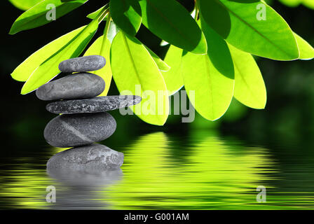 pyramid of stones - Stock Photo