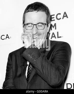 New York City, USA - April 22, 2016: J attends Tribeca Talks Storytellers - Tom Hanks with John Oliver - Stock Photo