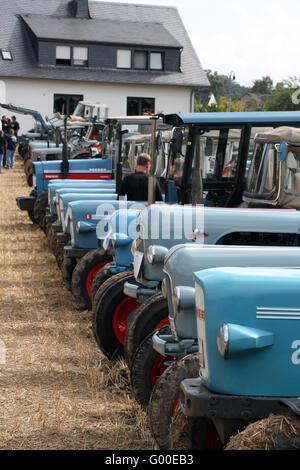 Tractor meeting / Oldtimertreffen - Stock Photo