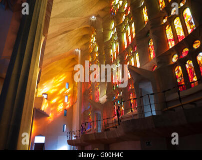 Interior of the Sagrada Família - Stock Photo