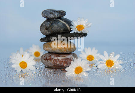 stone pyramid - Stock Photo
