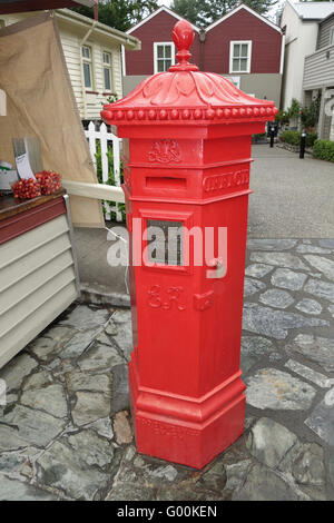 Post Box at Arrowtown, Nr Queenstown, South Island, New Zealand. - Stock Photo