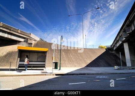 Bus stop in Brisbane, Australia - Stock Photo