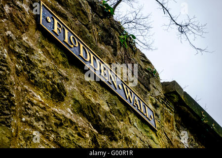 The Flodden Wall in Grey Friars church yard in Edinburgh, Scotland - Stock Photo