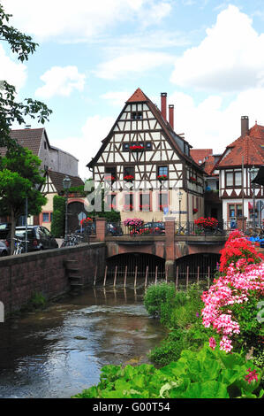 Half-timbered house in Gemany - Stock Photo