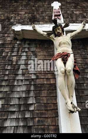 Wooden Crucifix - Stock Photo