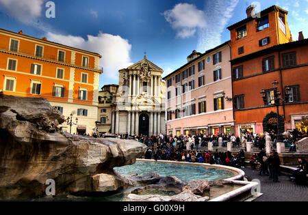 Trevifountain Rome - Stock Photo