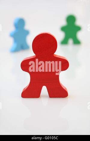 Red Wooden Man - Stock Photo
