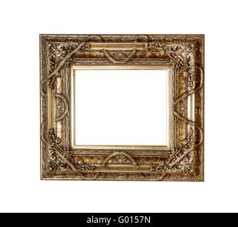 Gold picture frame, retro - Stock Photo
