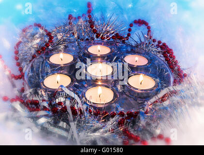 Christmas holiday candles, candle, vintage - Stock Photo