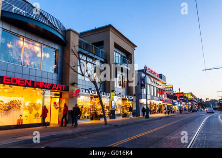 Tourist shops in the Fishermans Wharf area of San Francisco - Stock Photo