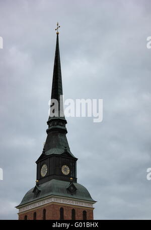 church building in Malung, Dalarna, Sweden. - Stock Photo