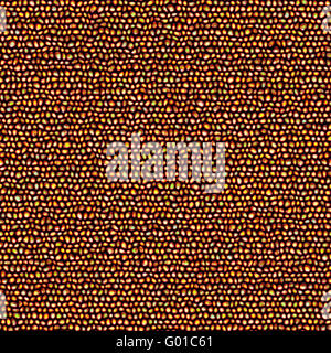 seamless 3d texture of glossy pebble stones in warm colors - Stock Photo