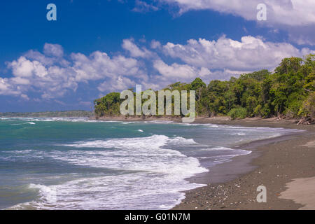 CORCOVADO NATIONAL PARK, COSTA RICA - Beach on Pacific Ocean, Osa Peninsula. - Stock Photo