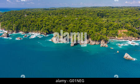 CORCOVADO NATIONAL PARK, COSTA RICA - Pacific coast of Osa Peninsula. - Stock Photo