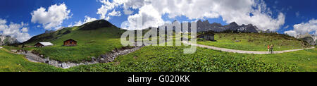 360 ° Panoramic view at the Ladizalm in the Karwen - Stock Photo