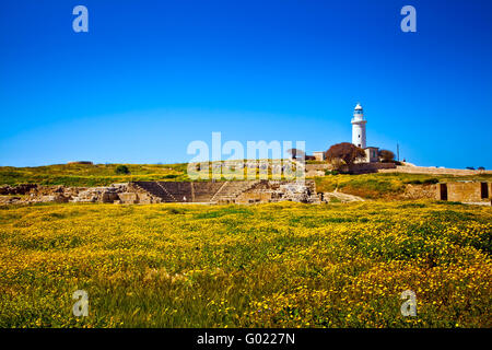 The old lighthouse in Paphos - Stock Photo