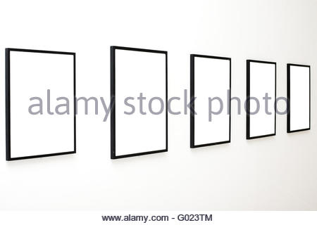 Five frames on white wall Stock Photo: 82872133 - Alamy