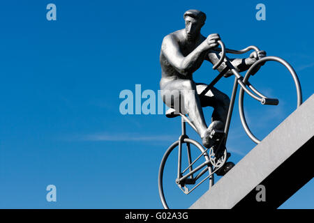 Cyclist of the early twentieth century - Stock Photo