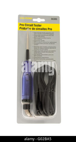Winneconne, WI - 15 May 2015: Package of Calterm pro circuit tester. - Stock Photo