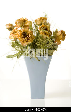 withered roses bunch - Stock Photo