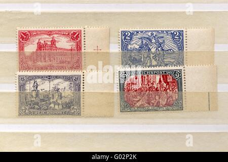 Stamps Germany 1900 - Stock Photo