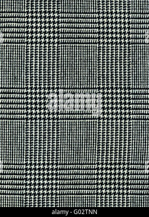 Close-up of a gray checked plaid for background - Stock Photo