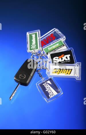 Car keys, car rental - Stock Photo