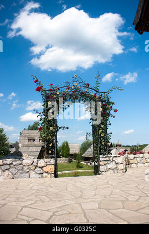 Garden gate - Stock Photo