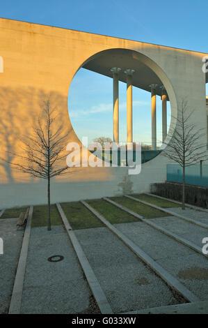German Chancellery in Berlin - Stock Photo