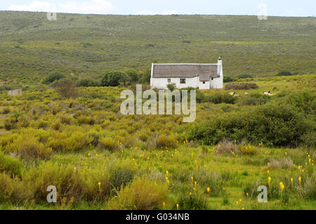 Farm house on the Bokkeveld Plateau,South Africa - Stock Photo