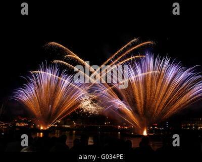 Rhine in Flames - Stock Photo