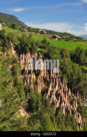 Natural Heritage Earth Pyramids in South Tyrol - Stock Photo
