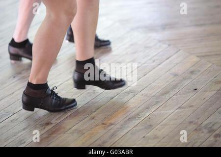 tap dancing  feet  dancimg shoe - Stock Photo