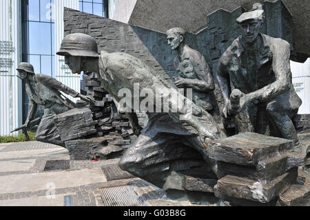 Monument of the Warsaw Uprising, Poland - Stock Photo